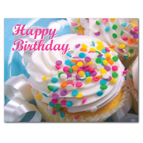 POSTCARDS: Birthday: Confetti Cupcakes - box of 50 postcards