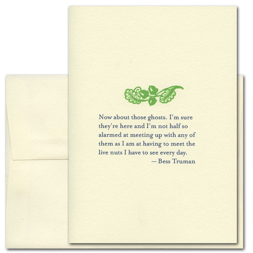 About Those Ghosts: Truman - box of 10 cards & envelopes