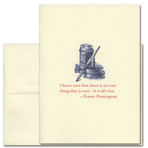 All True: Hemingway - box of 10 cards & envelopes