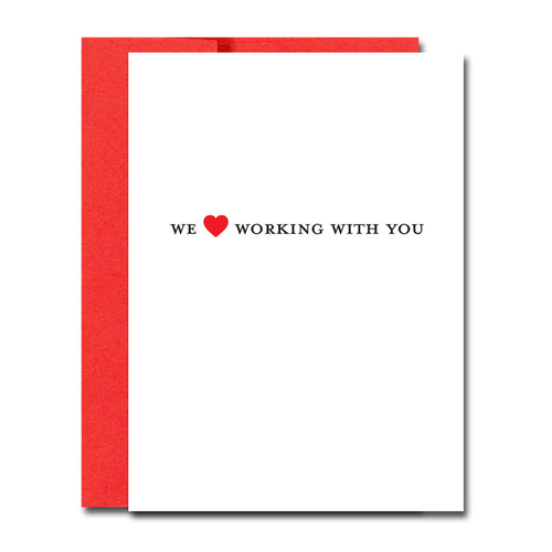 Valentine Cards: Love Working with You -boxed 30 note cards & 32 env