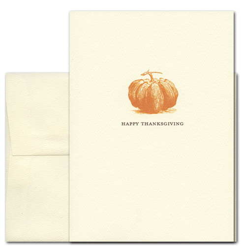 Heirloom Pumpkin: Thanksgiving Cards - box of 10 cards & envelopes