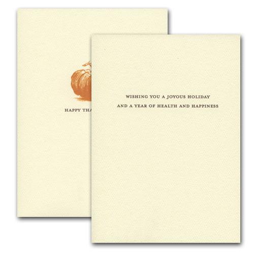 Heirloom Pumpkin - inside card