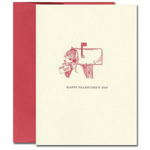 Valentine Cards: Mailbox - box of 10 cards & envelopes