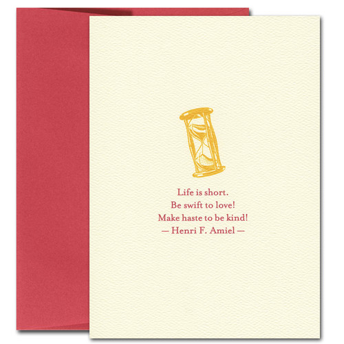 Valentine Cards: Make Haste: Amiel quotation boxed 10 cards & env