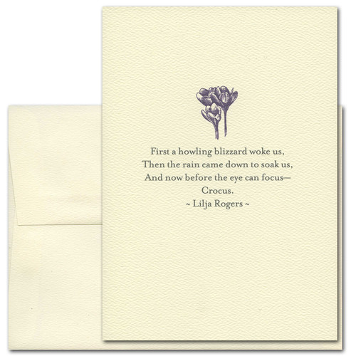 Crocus: Rogers - box of 10 cards & envelopes