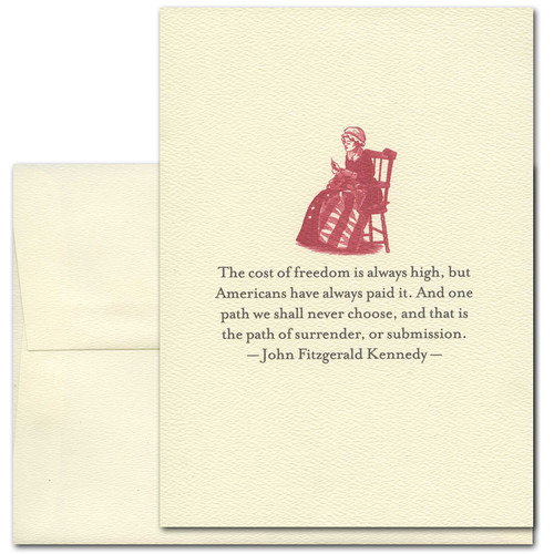 July 4th: Cost of Freedom: Kennedy - box of 10 cards & envelopes