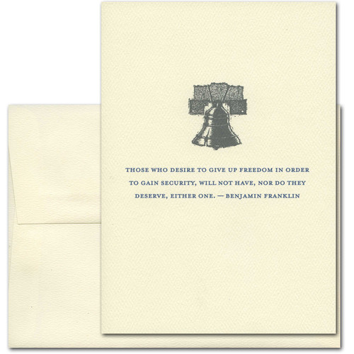 July 4th: Freedom: Franklin - box of 10 cards & envelopes
