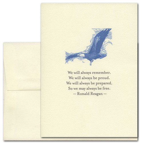 July 4th: Always Remember: Reagan - box of 10 cards & envelopes