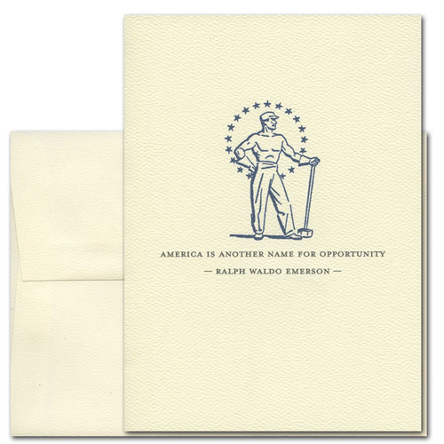 July 4th: America: Emerson - box of 10 cards & envelopes