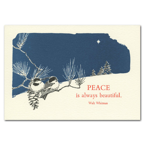 Beautiful Peace: Holiday Cards - box of 10 letterpress cards & env