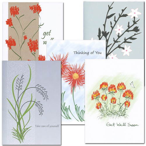 Get Well Card Assortment - box of 10 cards & envelopes