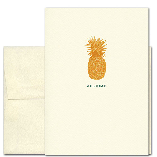 Welcome Cards: Pineapple - box of 10 cards & envelopes