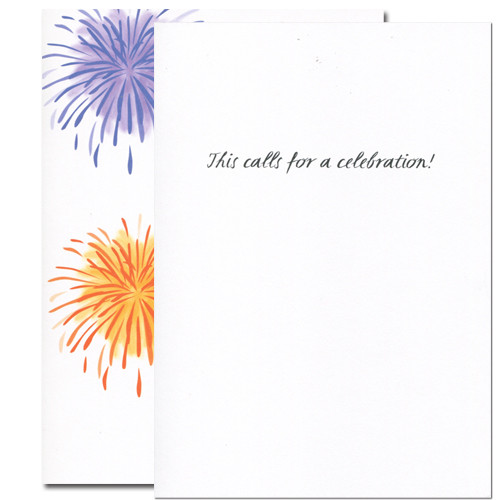 Inside of congratulations card reads: This calls for a celebration!