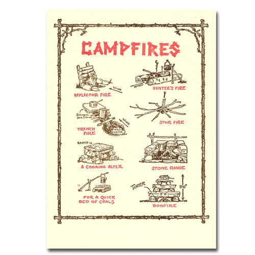 Campfires - box of 10 letterpress cards & envelopes
