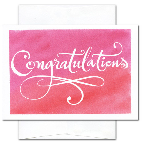 Congratulations Cards: Flourishes - box of 10 cards & envelopes
