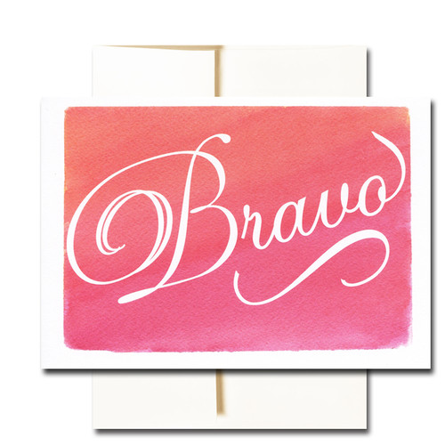 Congratulations Cards: Bravo - box of 30 blank cards & 32 env
