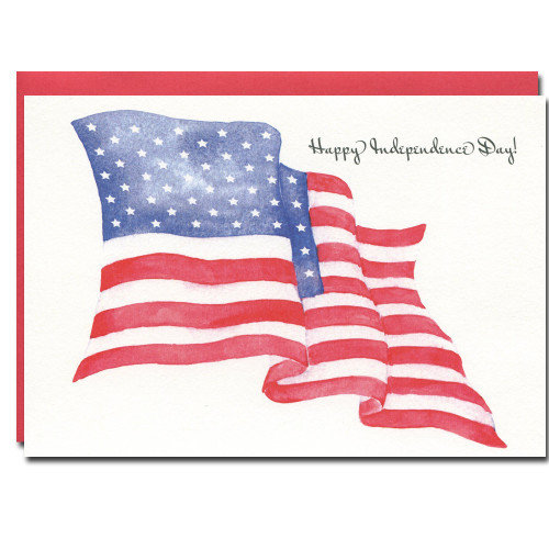 July 4th: American Flag - box of 10 cards & envelopes