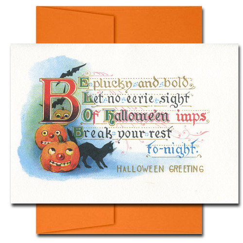 Halloween: Plucky and Bold - box of 10 cards & envelopes