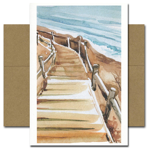 Beach Walkway - box of 10 cards & envelopes