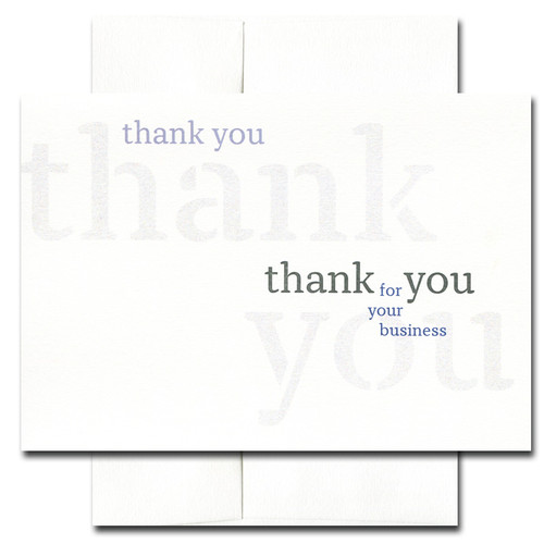 Business Appreciation: Triple - box of 10 cards & envelopes