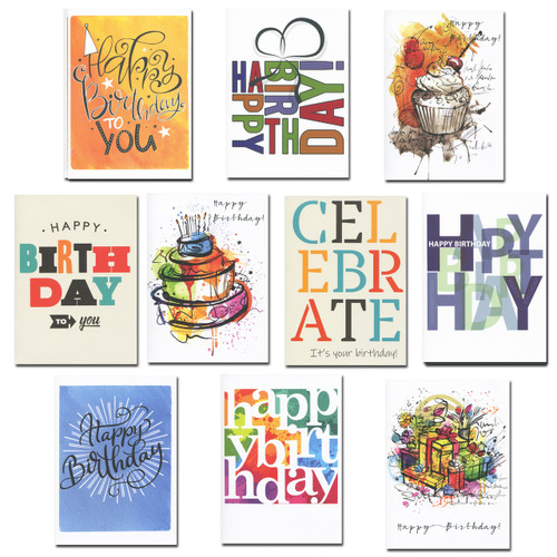 Birthday Cards: Business First Assortment - box of 30 cards & 32  env