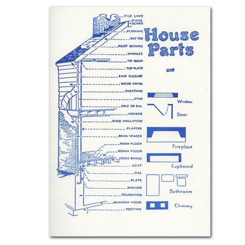 House Parts - box of 10 letterpress cards & envelopes