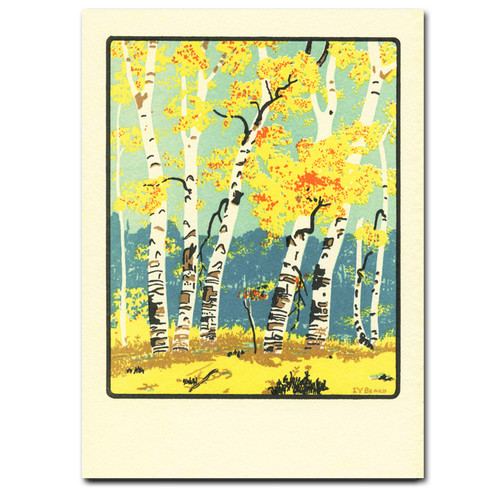 Autumn Dunes - box of 10 letterpress cards & envelopes