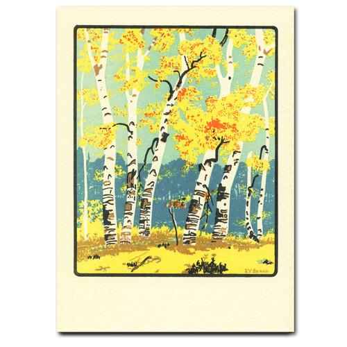 Saturn Press Card - Autumn Dunes