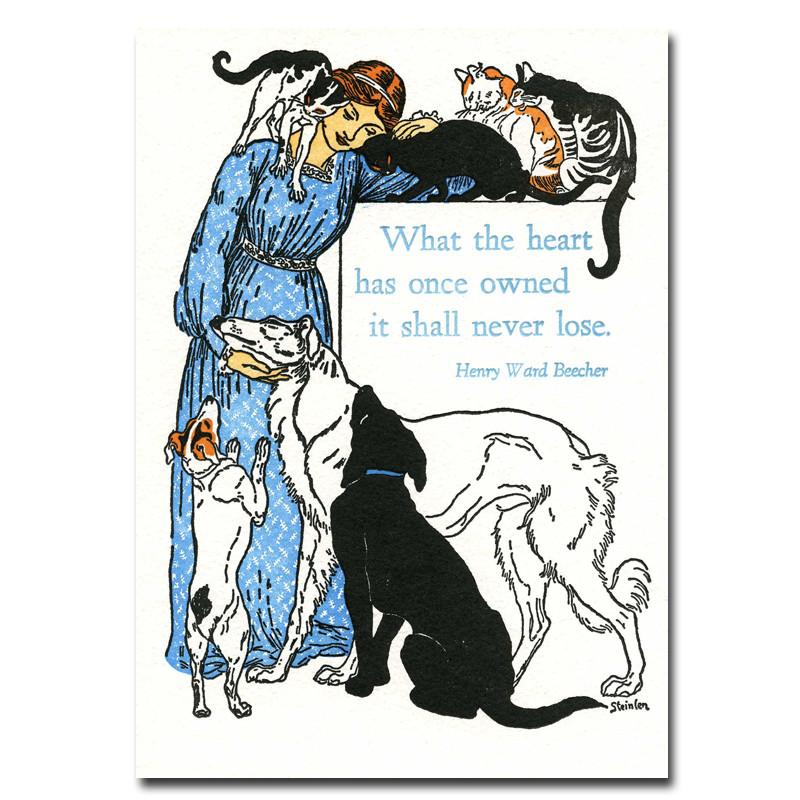 sympathy cards pets animal lover box of 10 letterpress cards env