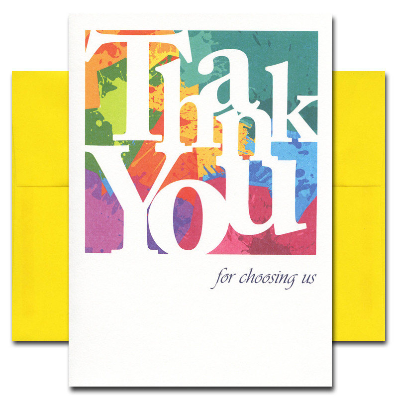 Business appreciation color blocks box of 10 cards envelopes reheart Choice Image