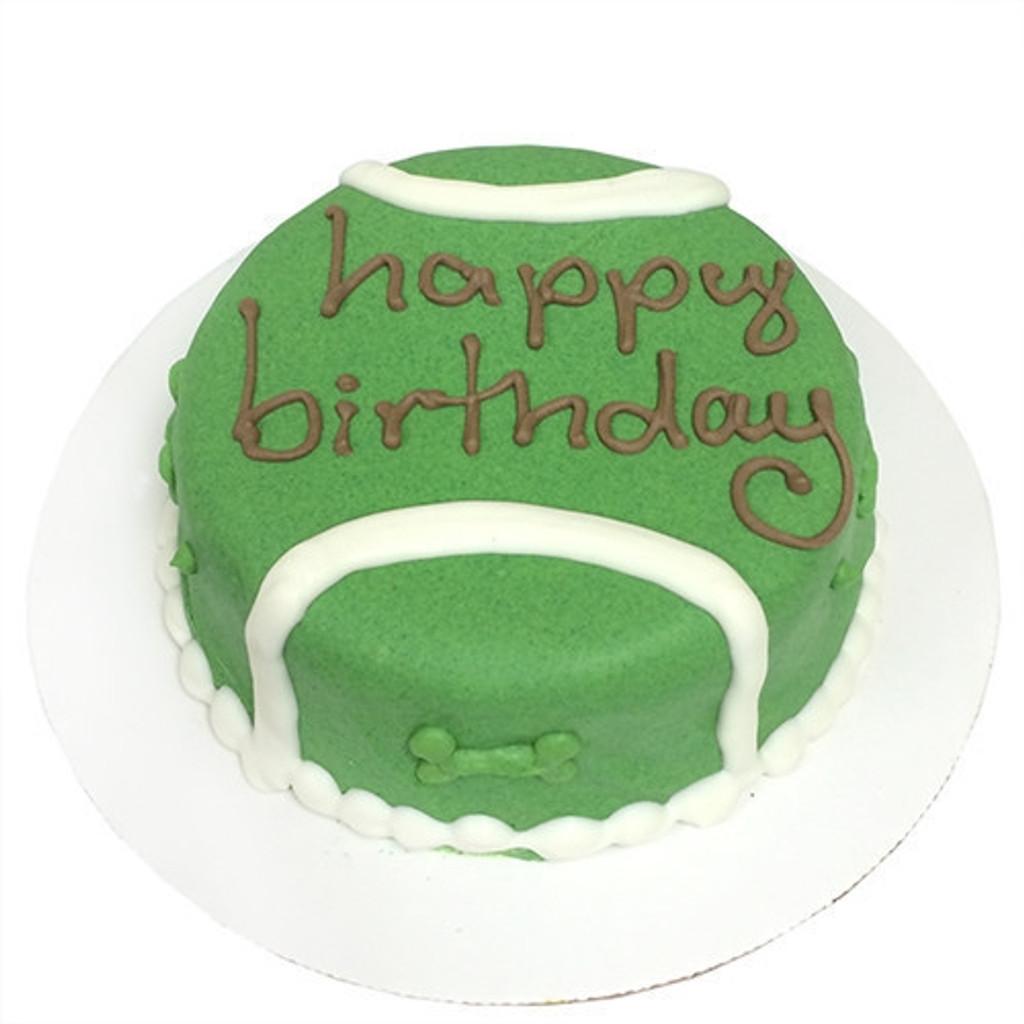 Tennis Ball Dog Birthday Cake