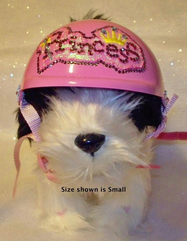 Pink Princess Dog Helmet