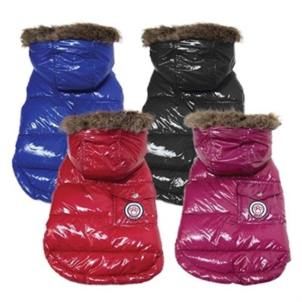 Shiny Puffer Dog Coat