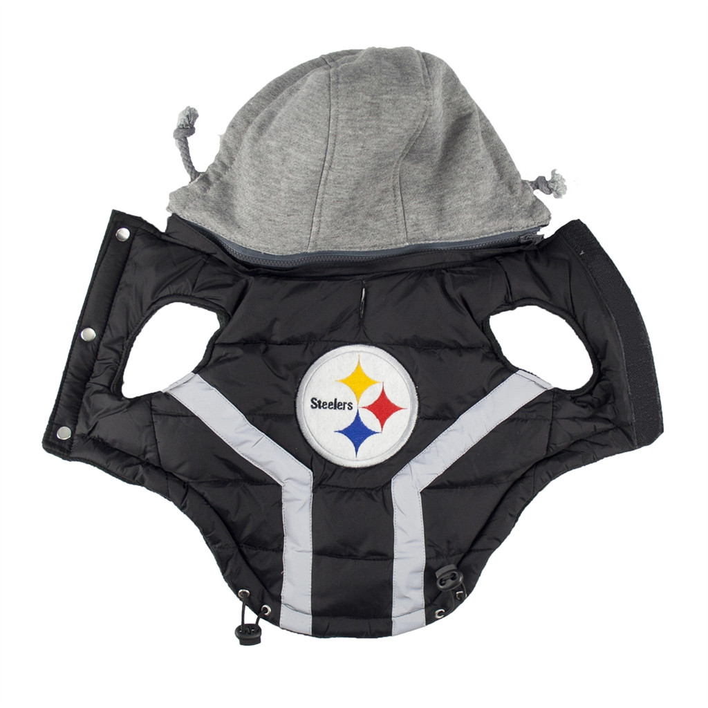 Pittsburgh Steelers Puffer Dog Vest Jacket