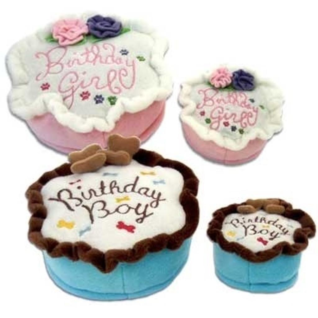 Birthday Cake Dog Toy
