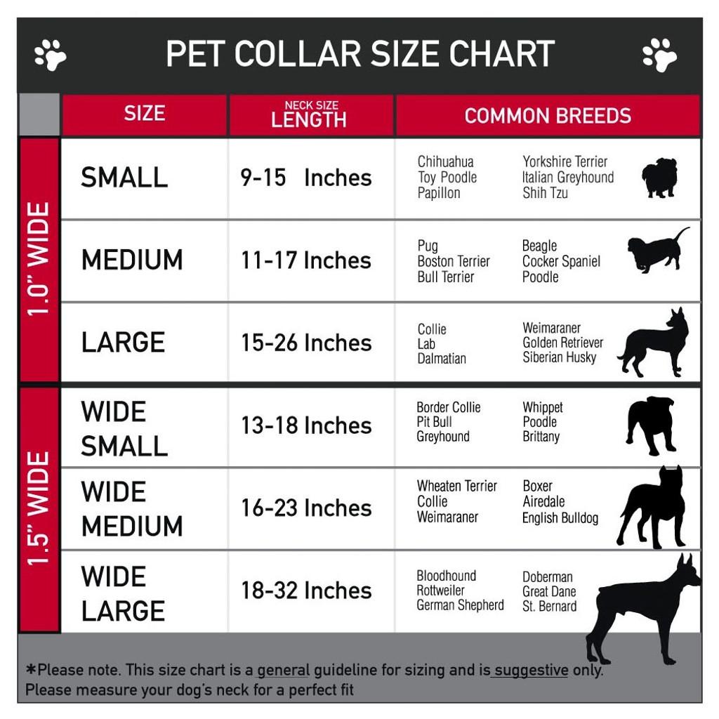 Dog Collar |  grateful dead dog collar size chart