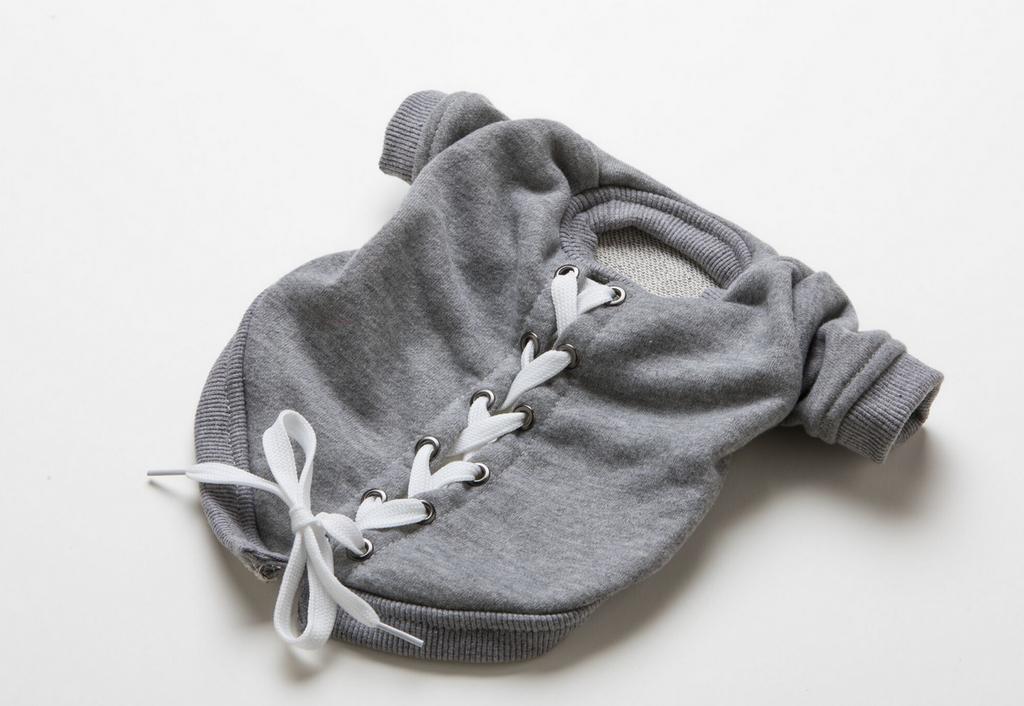 lace up dog sweatshirt