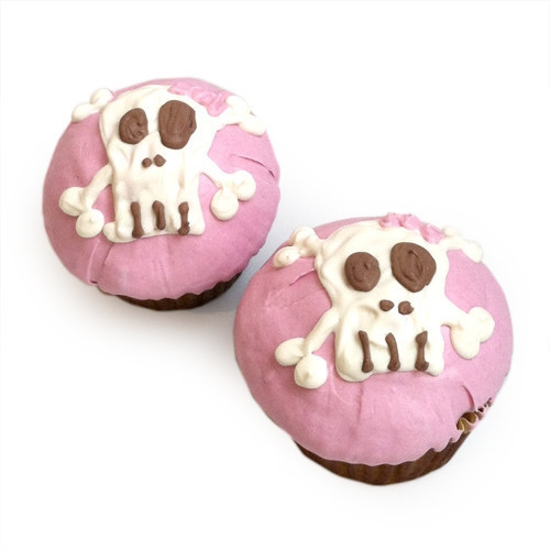 Pink Punk Skull Cupcakes (set of 6)