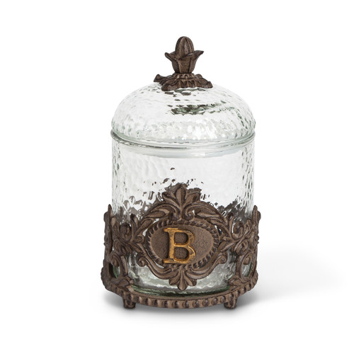 Personalized Dog Treat Jar with Monogram Letter