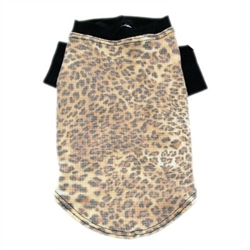 Leopard Diva Thermal Dog Tee