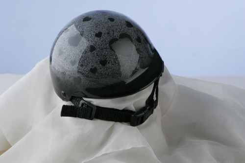 Airbrushed Granite Hearts Dog Helmet