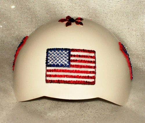 XS USA Patriotic Bling Dog Helmet