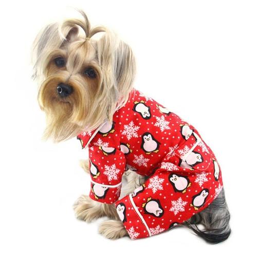 Red Penguins Dog Pajamas