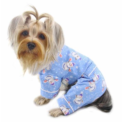 Snowman Snowflake Dog Pajamas