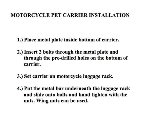 motorcycle dog seat