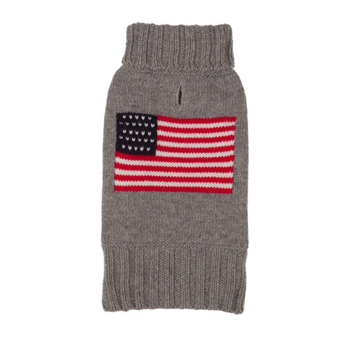 American Flag Dog Sweater