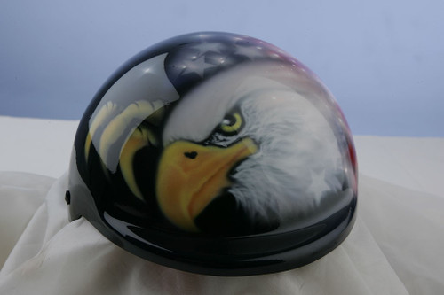 Airbrushed American Flag Eagle Dog Helmet