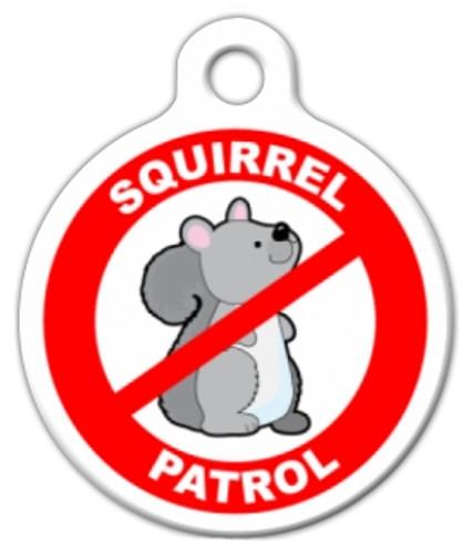 Squirrel Patrol Dog ID Tag