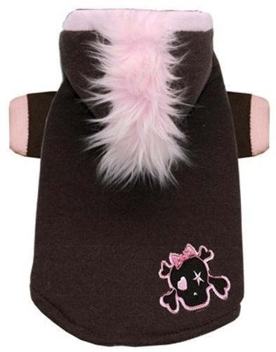Pink Skull Mohawk Dog Hoodie