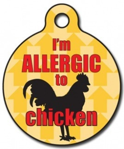 Chicken Allergy Medical Alert Dog ID Tag